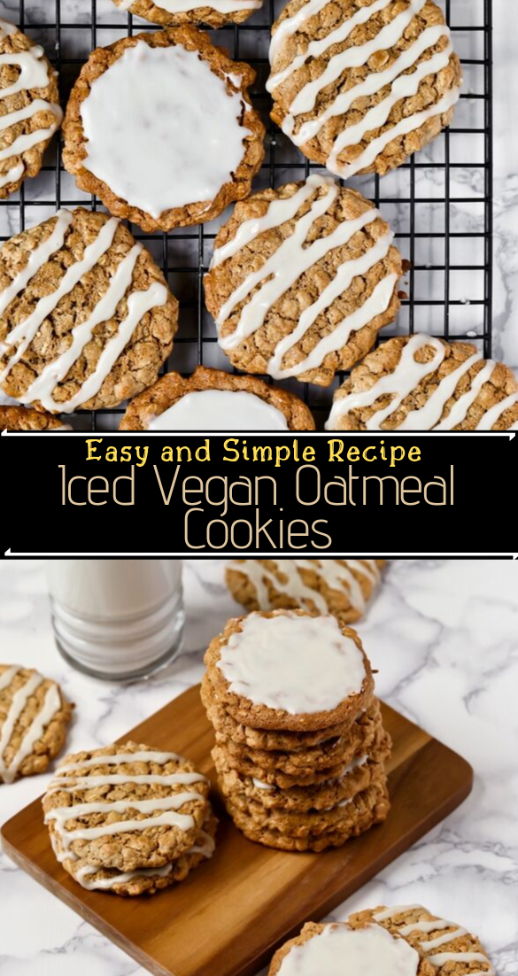 Iced Vegan Oatmeal Cookies #healthyfood #dietketo #breakfast #food