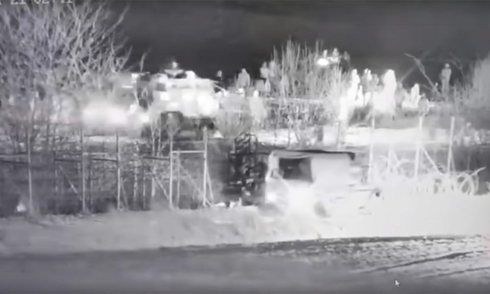 Το Τουρκικό θωρακισμένο που προσπάθησε να ρίξει το φράχτη στoν Έβρο [ΒΙΝΤΕΟ]
