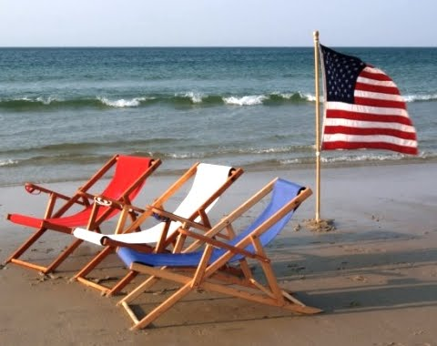Image result for american flag by the sea