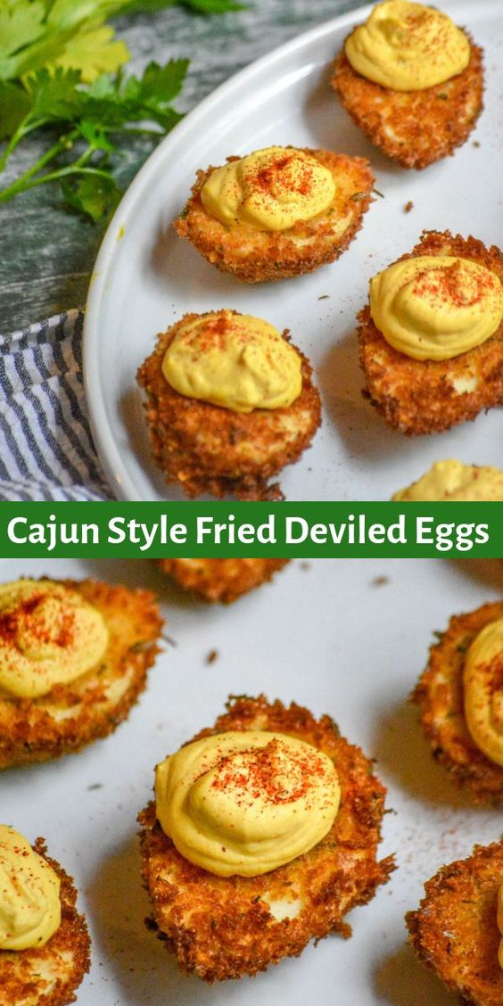 CAJUN STYLE FRIED DEVILED EGGS #recipes #dinnerrecipes #eveningdinnerrecipes #food #foodporn #healthy #yummy #instafood #foodie #delicious #dinner #breakfast #dessert #yum #lunch #vegan #cake #eatclean #homemade #diet #healthyfood #cleaneating #foodstagram
