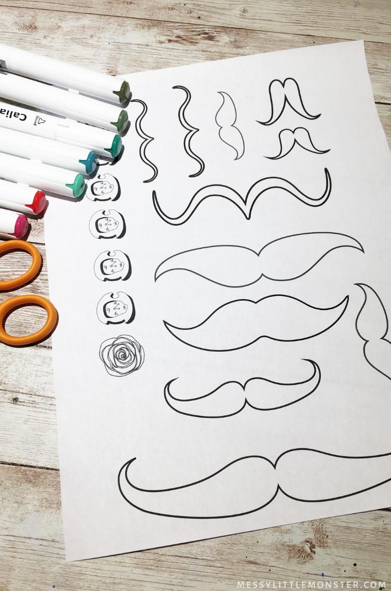Dali Moustache printable