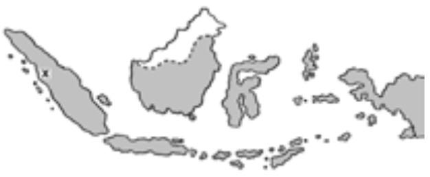 daerah yang diberi tanda huruf x seperti pada peta indonesia merupakan konsentrasi batubara mas dayat daerah yang diberi tanda huruf x