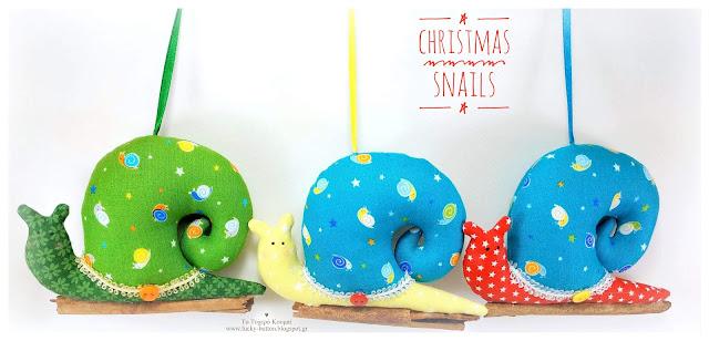 """Christmas snails"""