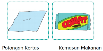 Gambar potongan kertas dan kemasan makanan berupa bangun datar www.simplenews.me