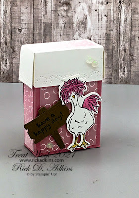 Treat Week 2021 kicks off with this first project featuring the Hey Chick Stamp Set and Dies.  Learn How I created this Tissue Box.  Click here!