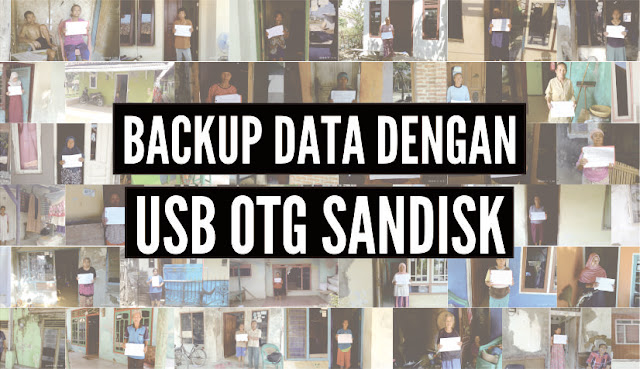 backup data dengan usb otg sandisk