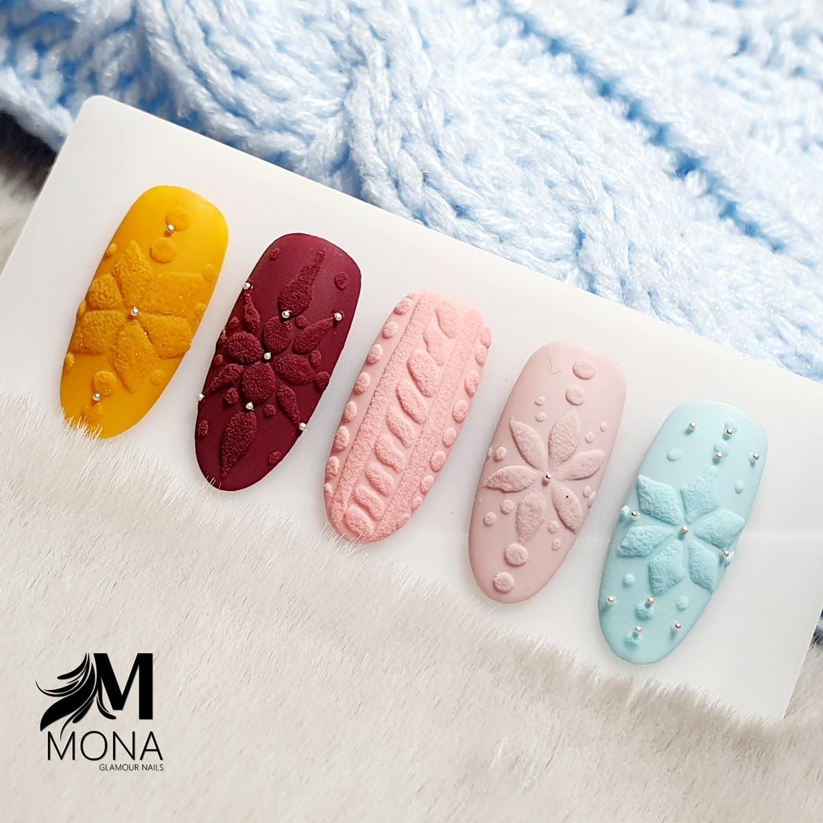 zimowe wzorki na paznokciach