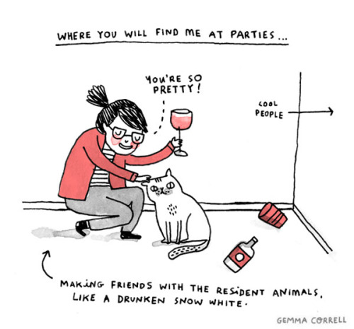 21 Insanely Useful Skills Every Introvert Has Mastered - Finding the best buddy at any party.