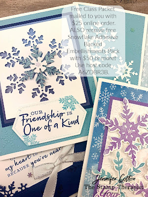 FREE Class Packet mailed to you!  Sept 2020.  #StampinUp #StampTherapist