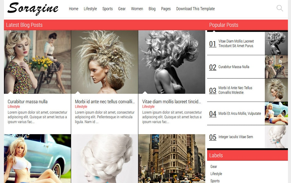 Latest Free Grid Style Blogger Templates 2020