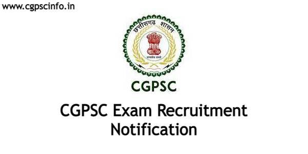 CGPSC Exam Recruitment 2021-22
