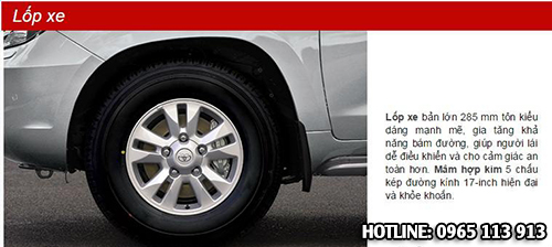 Toyota Land Cruiser bánh xe
