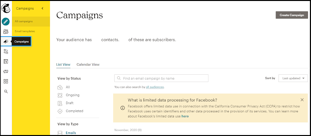 How to Create Campaign in Mailchimp
