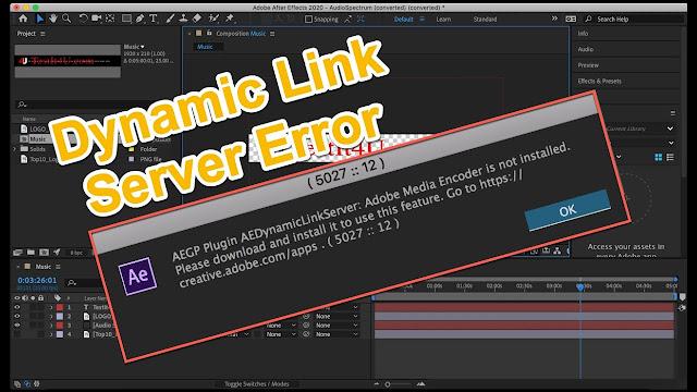 AE Dynamic Link di Premiere freezes dan After Effects tidak dapat dimulai