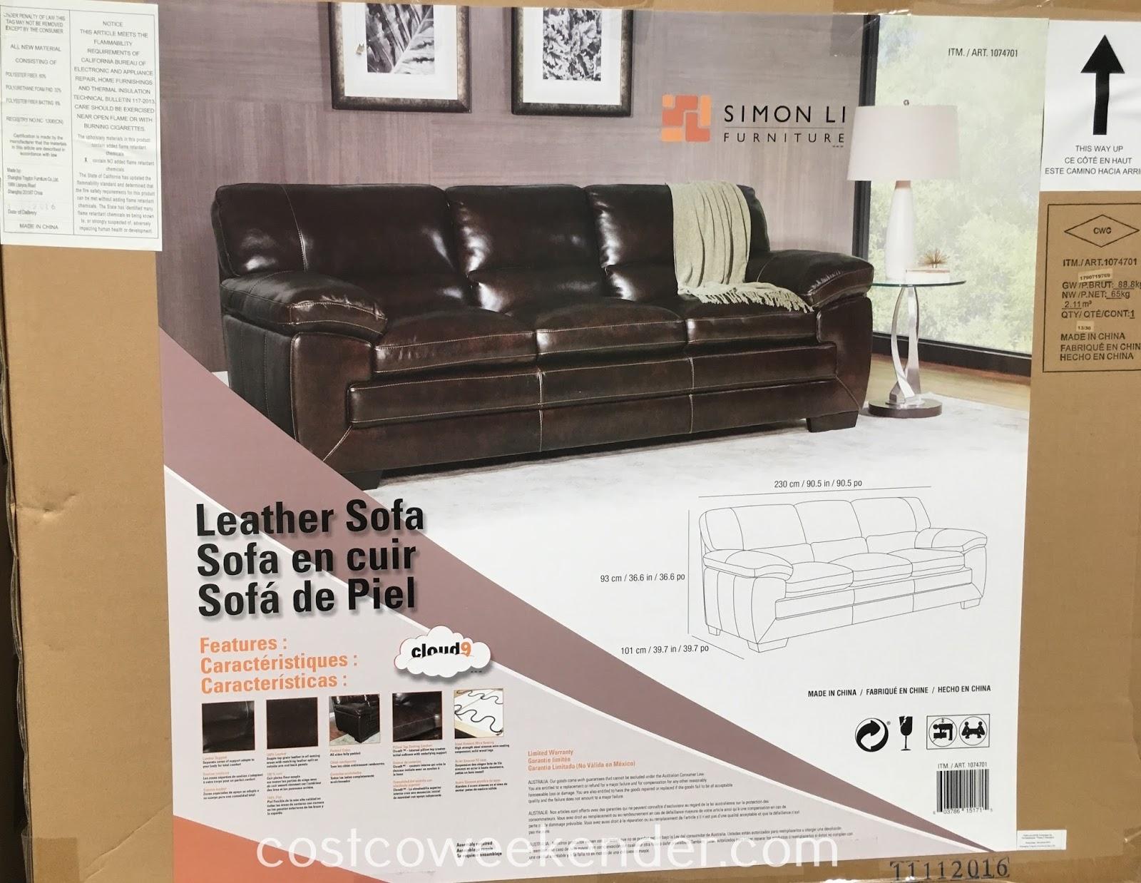 lounge around watch tv or take a power nap on the simon li leather sofa - Simon Li Furniture