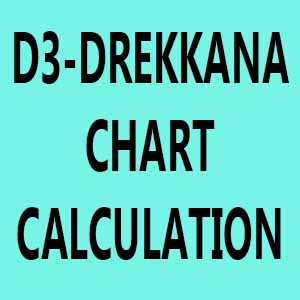 How to Calculate D3 - Drekkana Chart ?