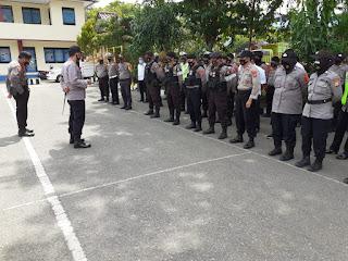 Aksi penolakan UU Omnibuslaw, Kapolres cek kesiapan personil Sebelum Pengamanan