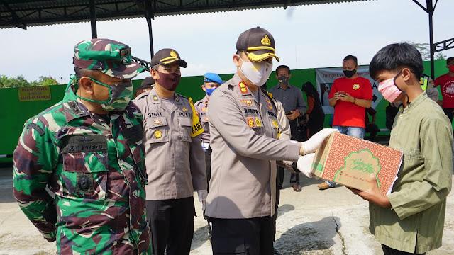 Polres Purbalingga Salurkan Bantuan 400 Paket Sembako