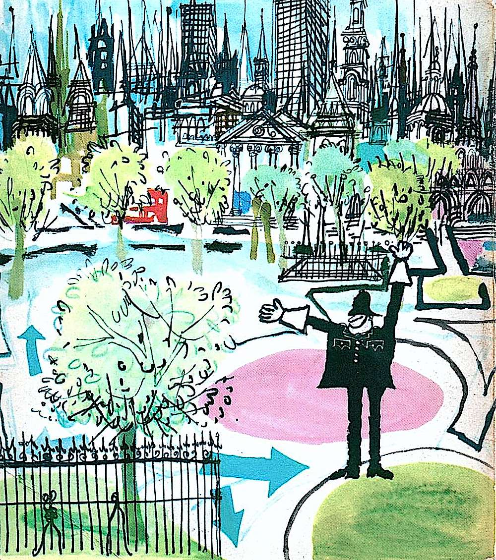 a London policeman by Ronald Searle