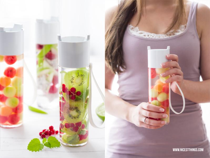 Fruit Infused Water Flasche für unterwegs