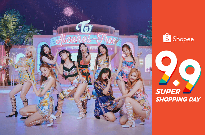 TWICE to perform live at Shopee 9.9 Super Shopping Day TV Special