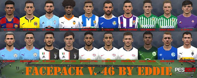 PES 2017 Facepack 46 by Eddie Facemaker