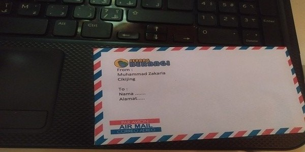 Cara Mudah Print Amplop Air Mail