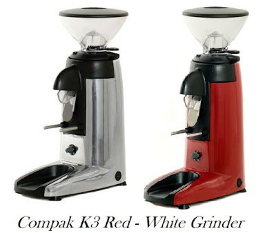 Compak K3 Red - White grinder