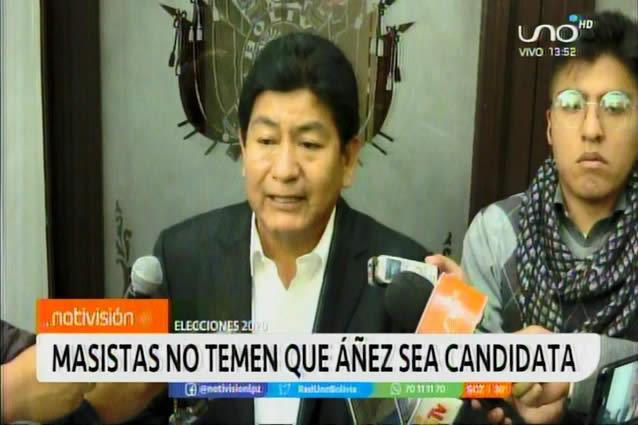 Masistas dicen no tener miedo a candidatura de Áñez, creen que son primeros en aceptación de la gente