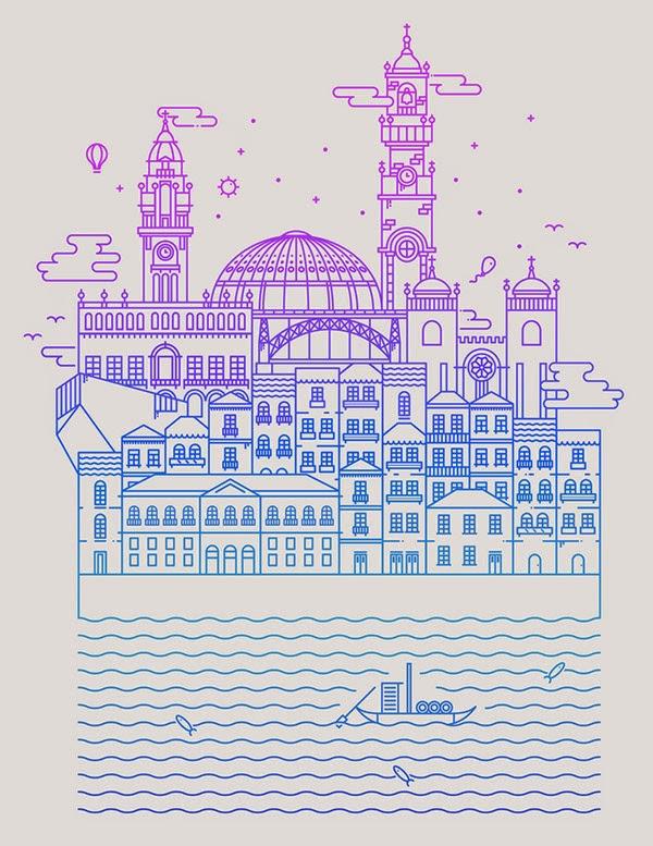 Inspirasi Desain Line Art - OPORTO BY ANDRÉ TORRES