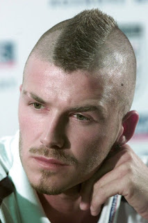Gaya Rambut Mohawk David Beckham