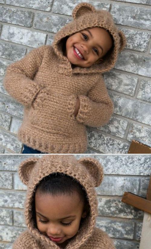 Hibernation Hoodie CHILD Sizes -  Free Crochet Patterns