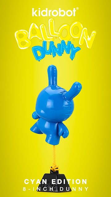 "Balloon Dunny Cyan Edition 8"" Vinyl Figure by Wendigo Toys x Kidrobot"