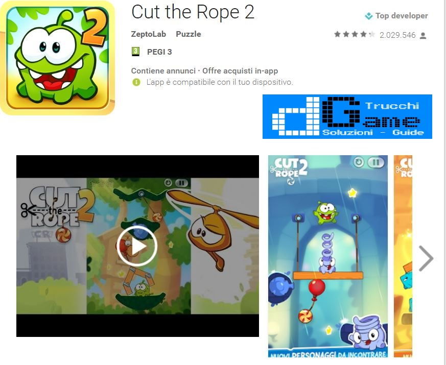 Soluzioni Cut the Rope 2 di tutti i livelli | Walkthrough guide