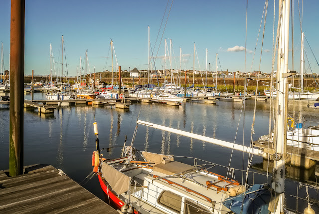 Photo of sunshine on Sunday evening at Maryport Marina