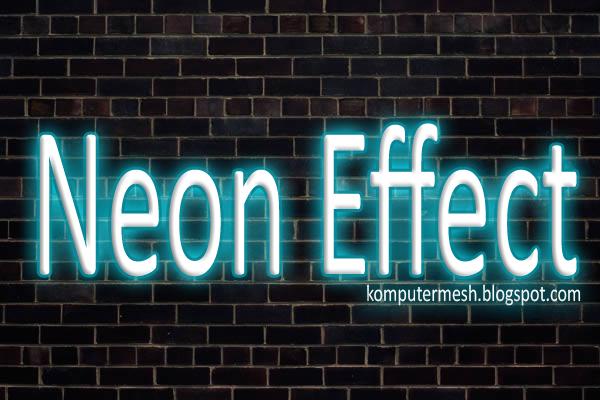 Tutorial Membuat Teks Efek Lampu Neon Di photoshop