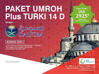Paket Umroh Plus Turki Oktober 2017