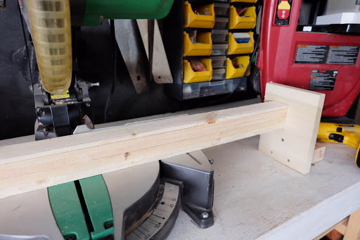 block stop miter saw cut wood lath