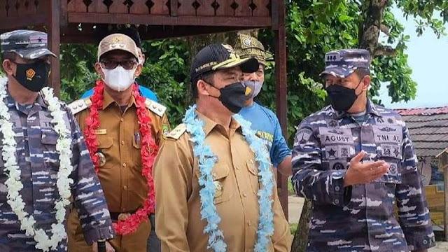 Peresmian Pembentukan Kampung Bahari Nusantara (KBN) TNI AL di Desa Sedau,