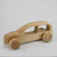 LFC33, Skier Car, Lotes Toys Wooden Car