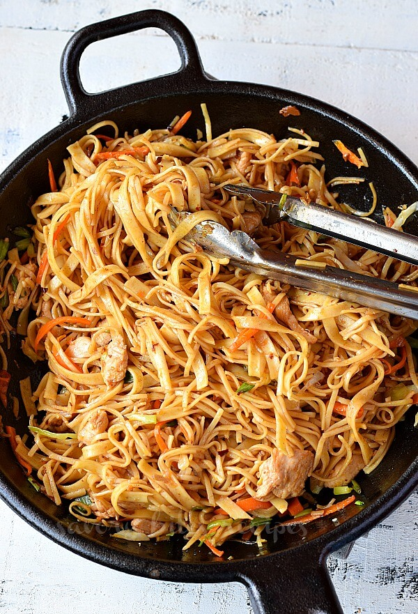 top looks of wok with easy chicken stir fry with noodles