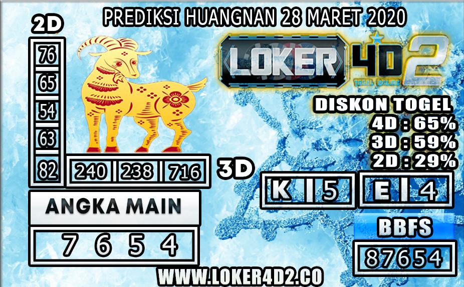 PREDIKSI TOGEL HUANGNAN LOKER4D2 28 MARET 2020