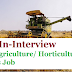 Walk-In-Interview-B. Sc in Agriculture/ Horticulture/ Life Sciences Job