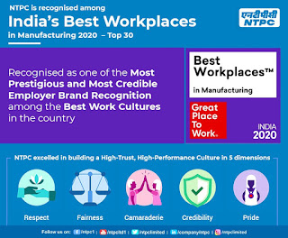 NTPC features among India's Best Workplace