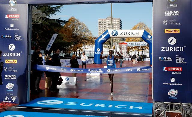 Hosea Kiprono vencedor de la Maratón de Donosti