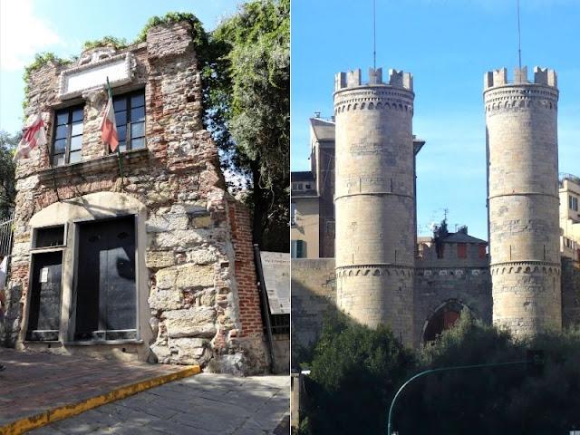 Casa di Colombo e porta Soprana Genova