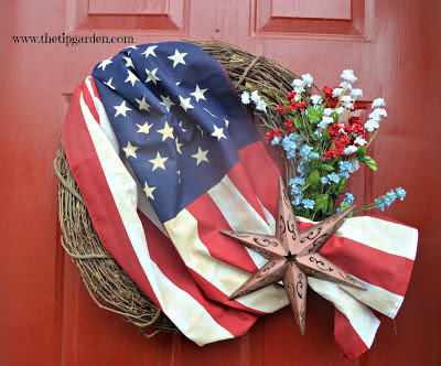 Vintage Flag Wreath