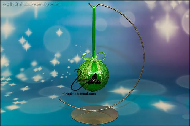 626. Wstążkowe bombki / Robbon christmas baubles