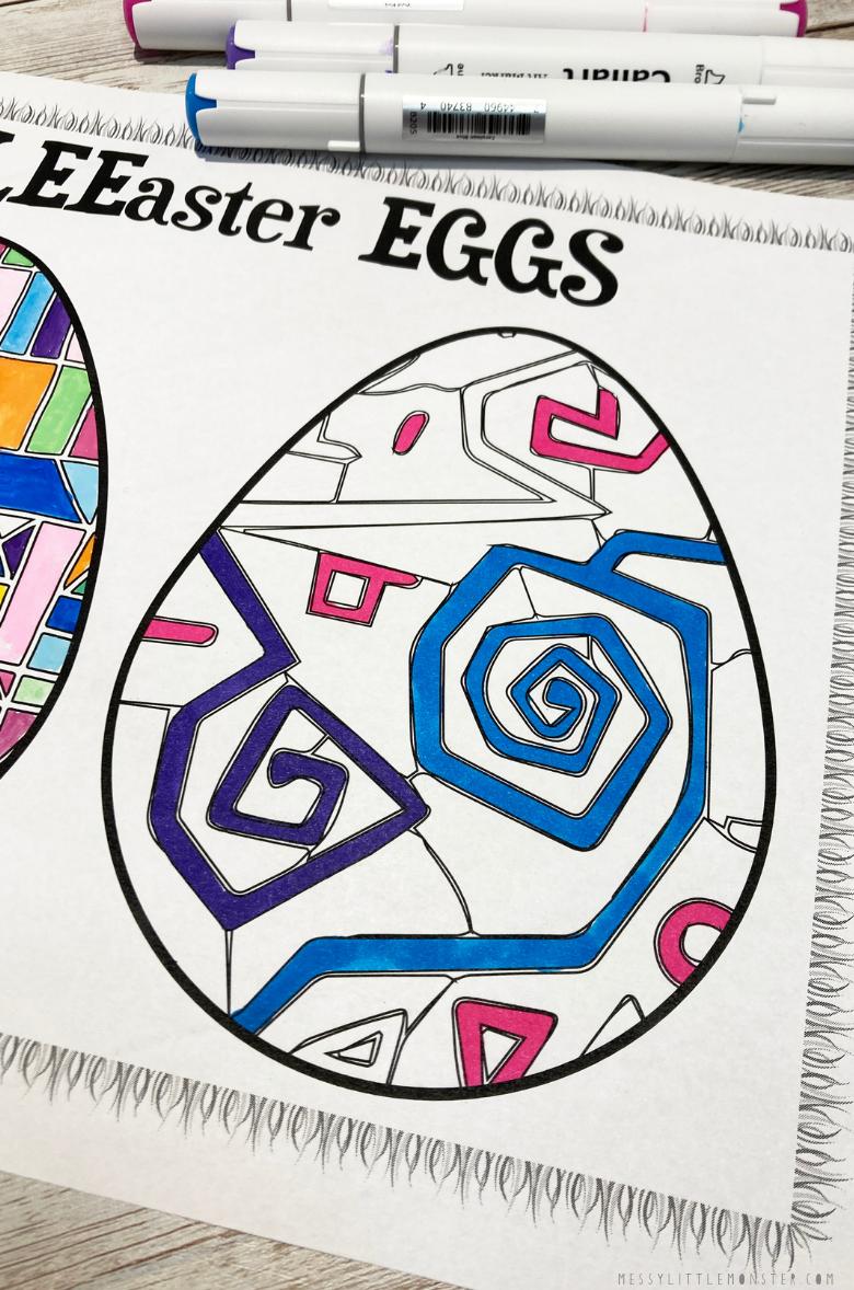 printable egg template for Paul klee art for kids