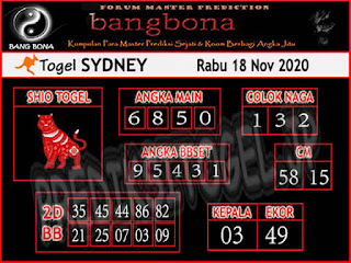 syair sydney bang bona